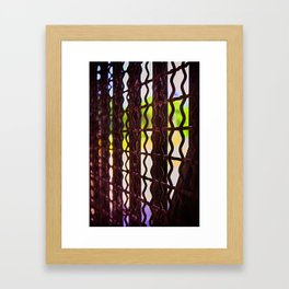 Behind the bars Framed Art Print