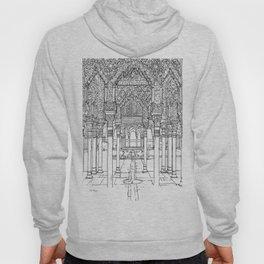 Alhambra palace, Granada, Andalucia - Spain-Black & White Hoody