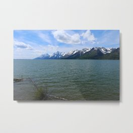 Jackson Lake Impression Metal Print