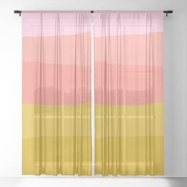 Abstract Sunset Colors Sheer Curtain