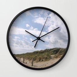 Sunbeams on the Beach Wall Clock