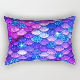 Mermaid Bubblegum Scales Rectangular Pillow