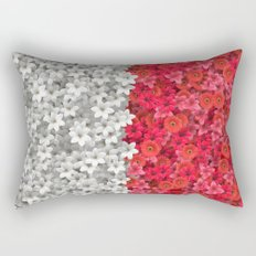 Boundary Flowers Rectangular Pillow