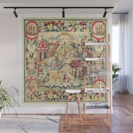 Susanna and the Elders 16th Century German Tapestry Print Wall Mural