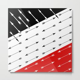 Red black , white pattern Boom 2 . Metal Print
