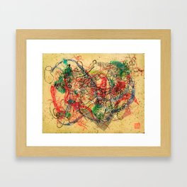 Strings Attached Framed Art Print