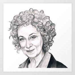 Margaret Atwood Art Print