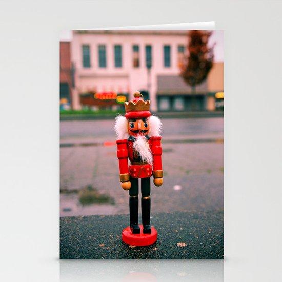 Sidewalk nutcracker Stationery Cards