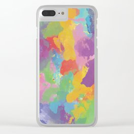 Watercolor Splatter Clear iPhone Case