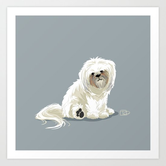 Mugsy the Shih Tzu Art Print