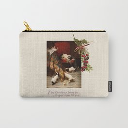Pet Lover Christmas Greeteengs Carry-All Pouch