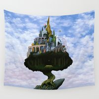 magritte Wall Tapestries featuring Emissary by Nathan Spoor