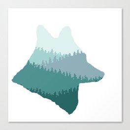 Wolf Mountains (Blue) Canvas Print