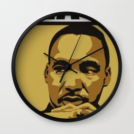 Martin Luther King Quote Wall Clock