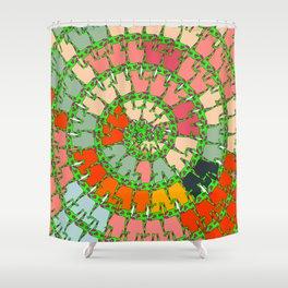girafe pattern Shower Curtain