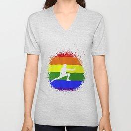 LGBT Pride Fencing Tshirt Fencing Sport Gifts Unisex V-Neck