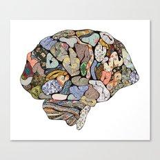my brain looks different Canvas Print