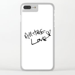 Harry Styles - All the Love Clear iPhone Case