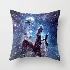 Pillars of Creation Smokey Blues Throw Pillow