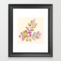 pastel leaves Framed Art Print