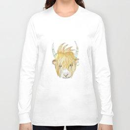 Yakety Yak Striped Illustration  Long Sleeve T-shirt