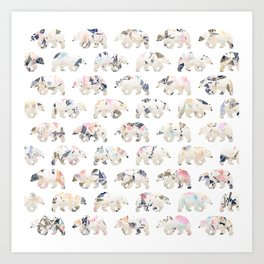 Party Bears Art Print