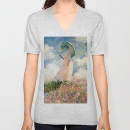 Claude Monet's Woman with a Parasol, Study Unisex V-Neck