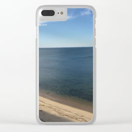 Clear Water Bay Beach from Above Clear iPhone Case
