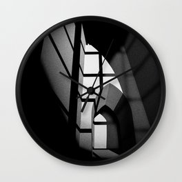 Kammerspiel 1 - Lights and shadows in black and white Wall Clock