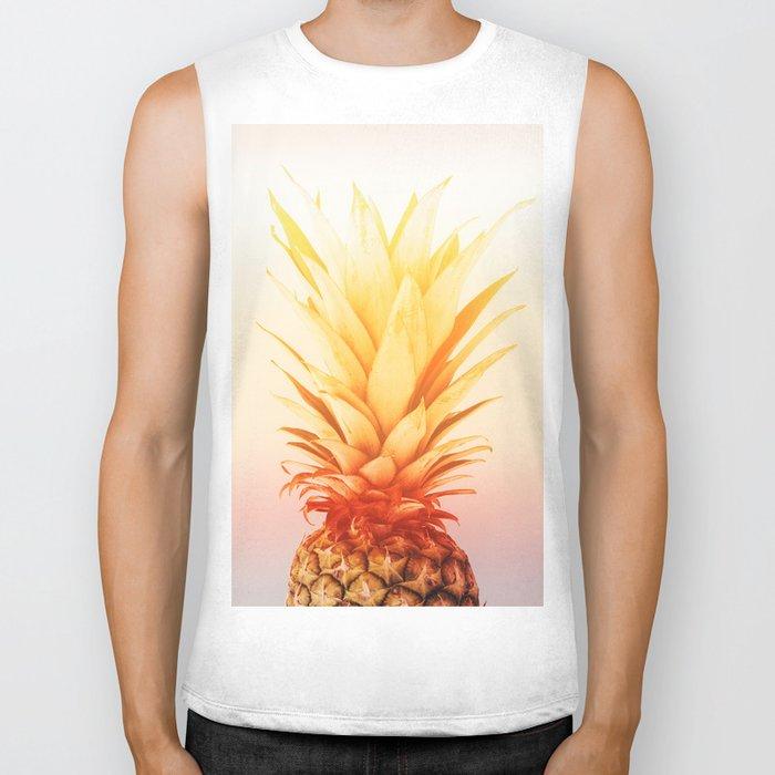 Pineapple#exposure#film#effect Biker Tank