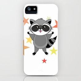 Kawaii raccoon iPhone Case