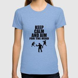 head shot zombie funny sayings T-shirt