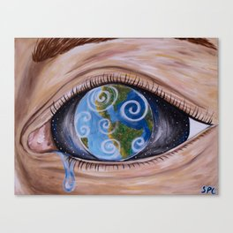 Anthropogenic Sea Level Rise Canvas Print
