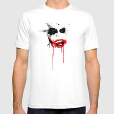 Why So Serious? White Mens Fitted Tee LARGE