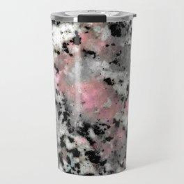Black and Pink Granite Travel Mug