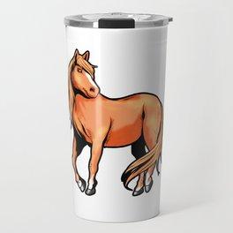 American Quarter Horse Riding Pony Travel Mug