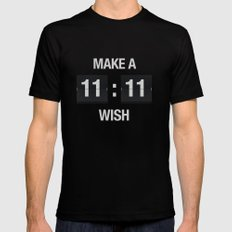 11:11 Black LARGE Mens Fitted Tee