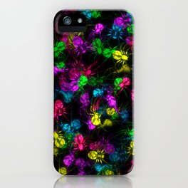 Glowing spiders iPhone Case