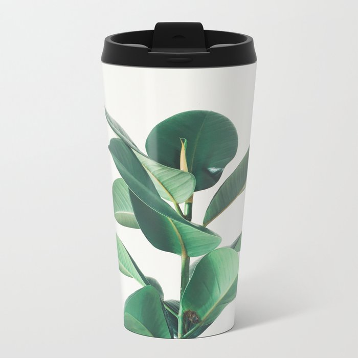 Rubber Fig Metal Travel Mug