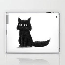 Sitting Cat (mono) Laptop & iPad Skin