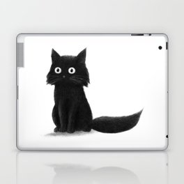 Sitting Cat (mono) Laptop & iPad Skin