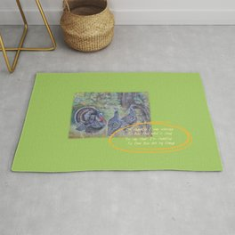 THANKSGIVING GREETINGS & WILD TURKEYS Rug