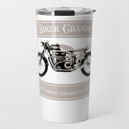 Biker Grandpa Motorcycle print Like A Normal Grandpa Travel Mug