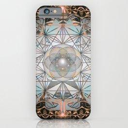 Golden Window Glass Sacred Geometry Mandala iPhone Case