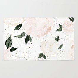 vintage blush floral Rug