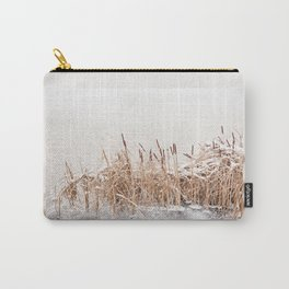 Typha reeds at frozen lake Carry-All Pouch