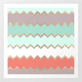 AVALON CORAL MINT Art Print