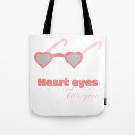 Heart eyes Tote Bag