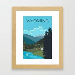 Wyoming Travel Poster Framed Art Print