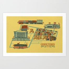 Corktown Art Print
